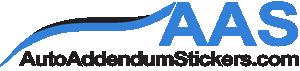 Auto Addendum Stickers, Jay Martinez